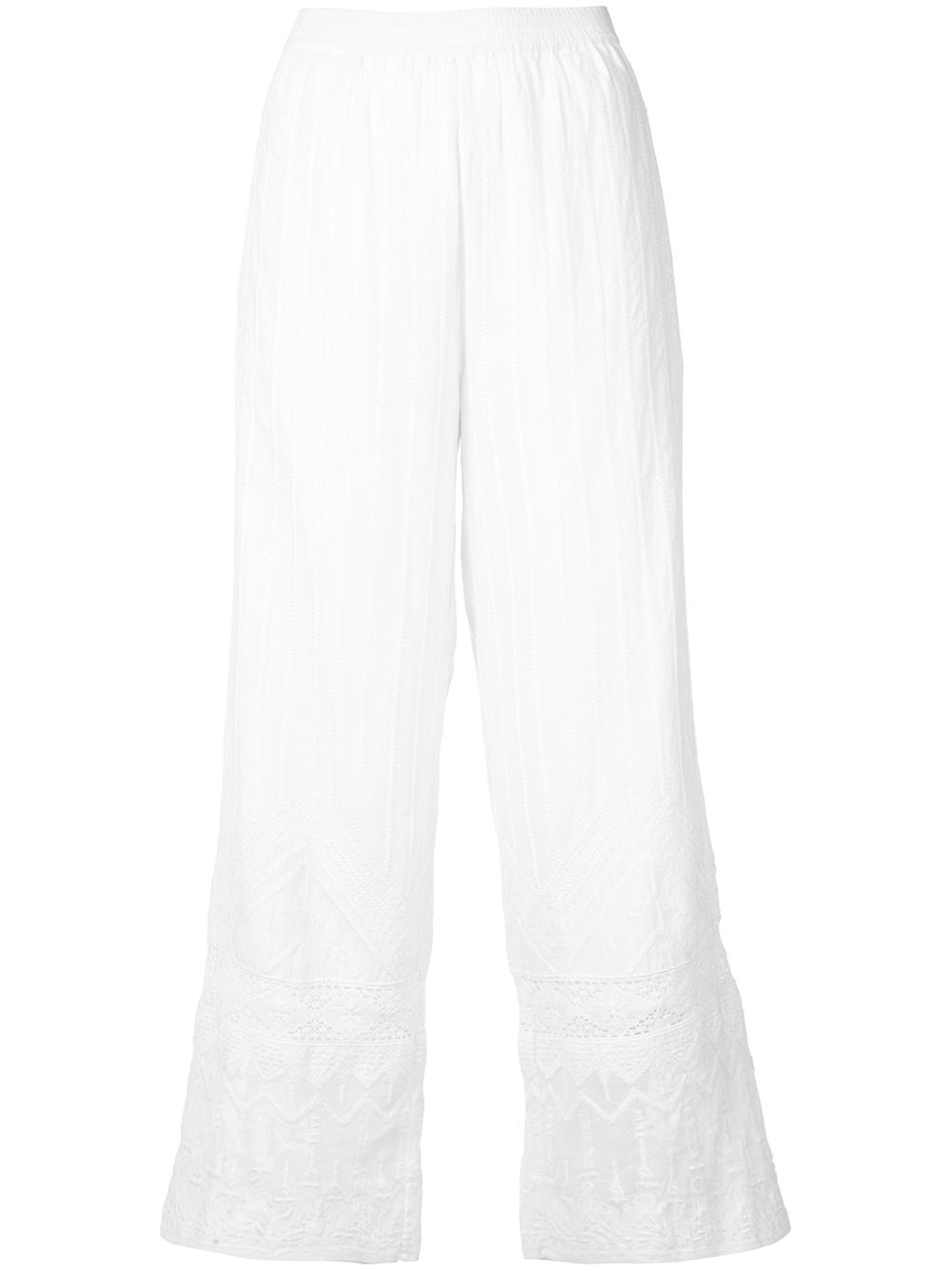 Hazel Embroidered Cotton Pant
