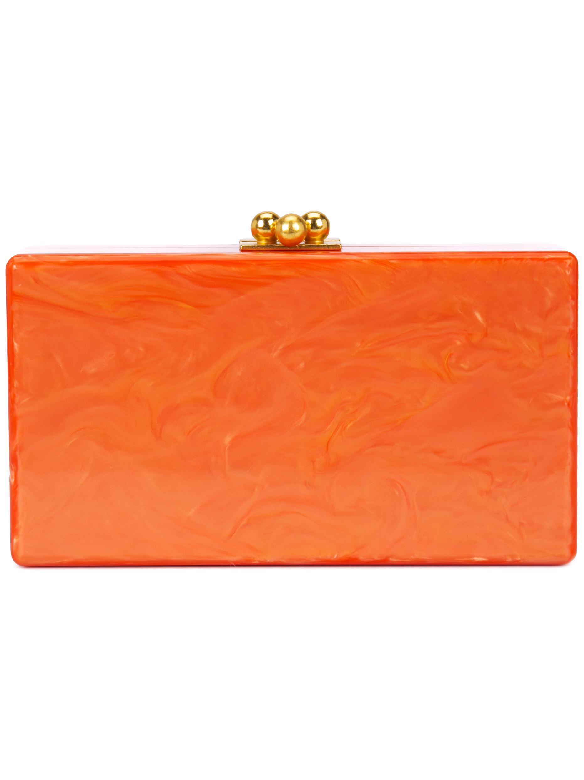 Jean Solid Pearlescent Box Clutch Item # JE0001