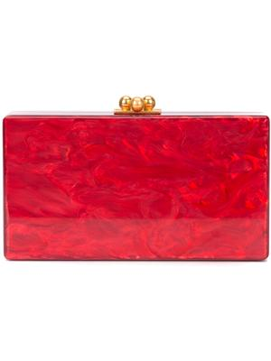 Jean Solid Pearlescent Box Clutch