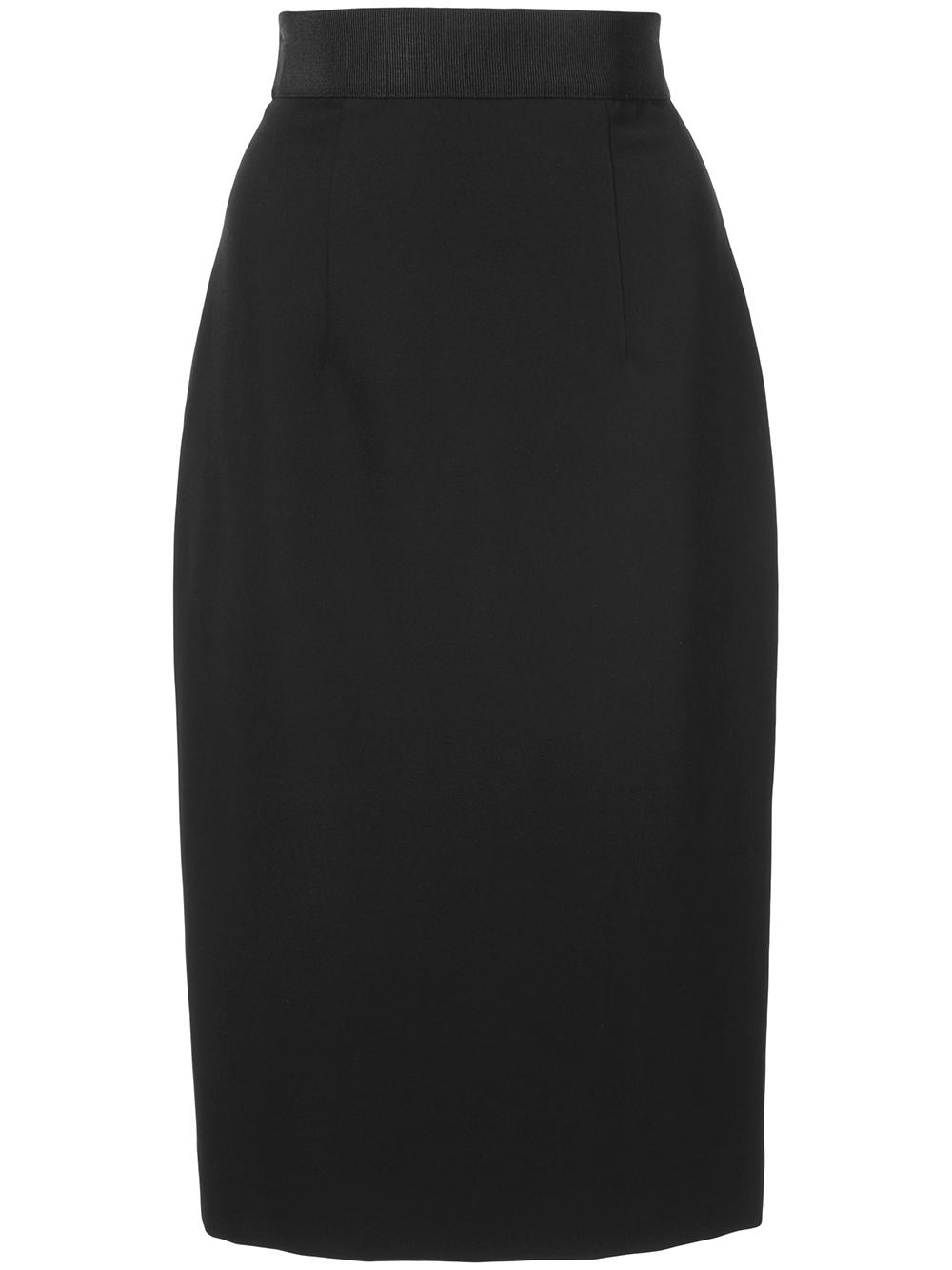 Straight Cady Midi Pencil Skirt