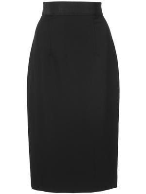 Straight Cady Midi Pencil Skirt