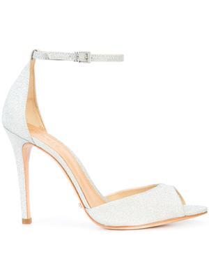 Glitter Fabric Ankle Strap Open Toe HiHl