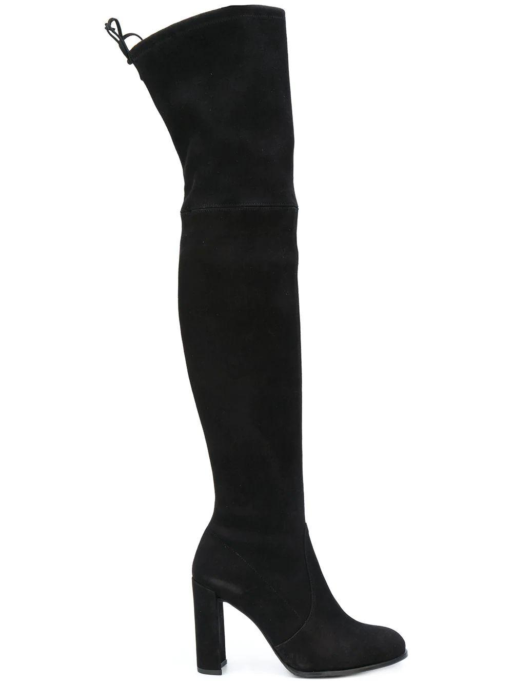 Over the Knee Back Tie Stretch Boot