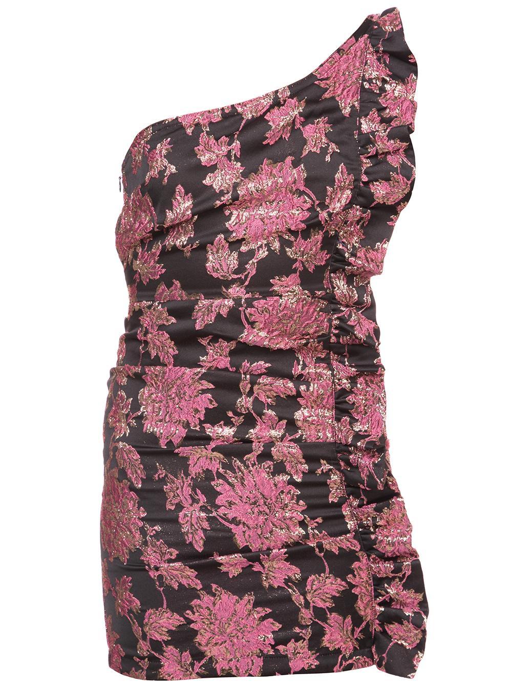 Luella Jacquard One Shoulder Mini Dress