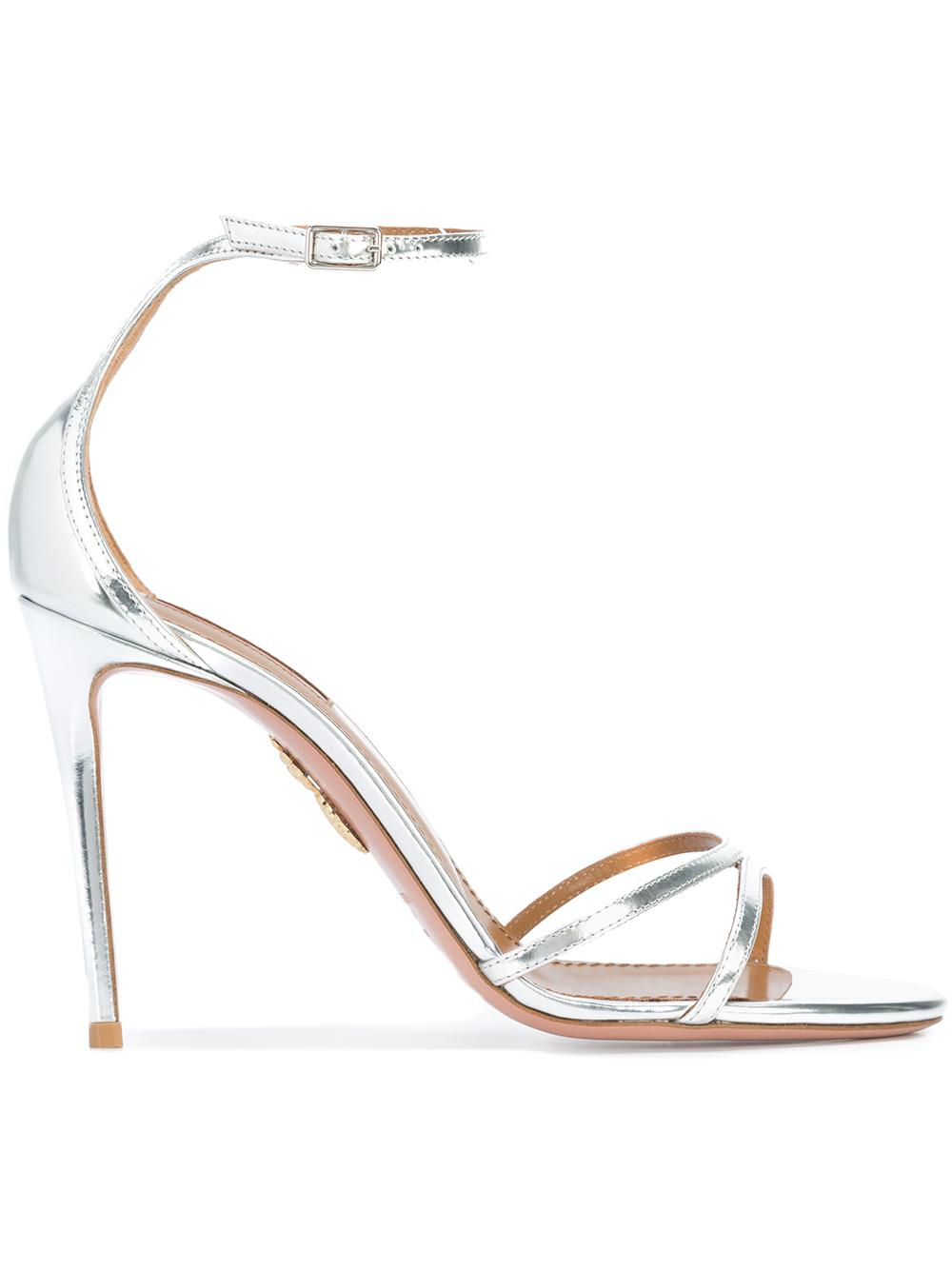 Purist Strappy Metlic 105mm High Heel Sandal
