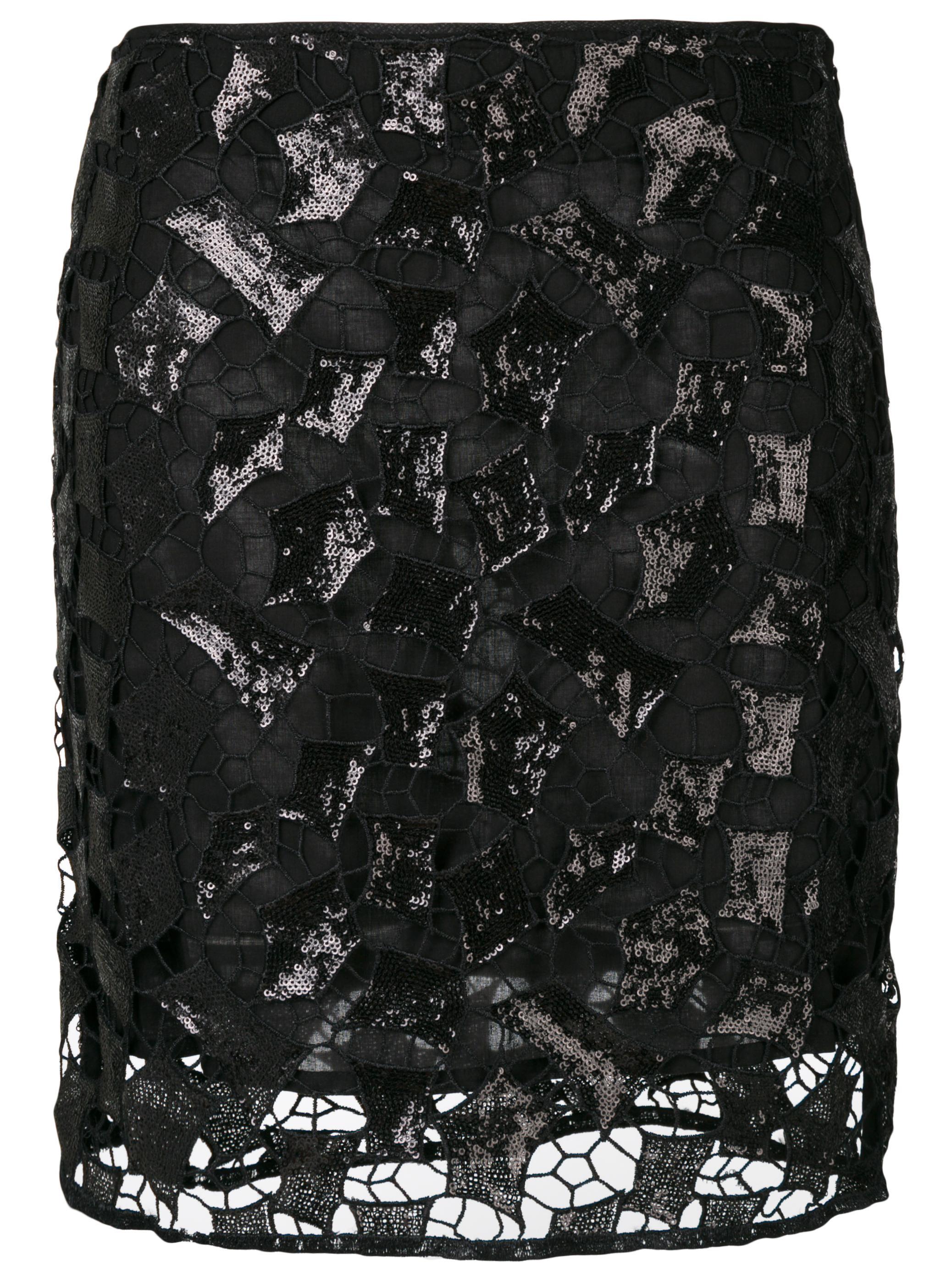Juva Ruffle Hem Mini Skirt