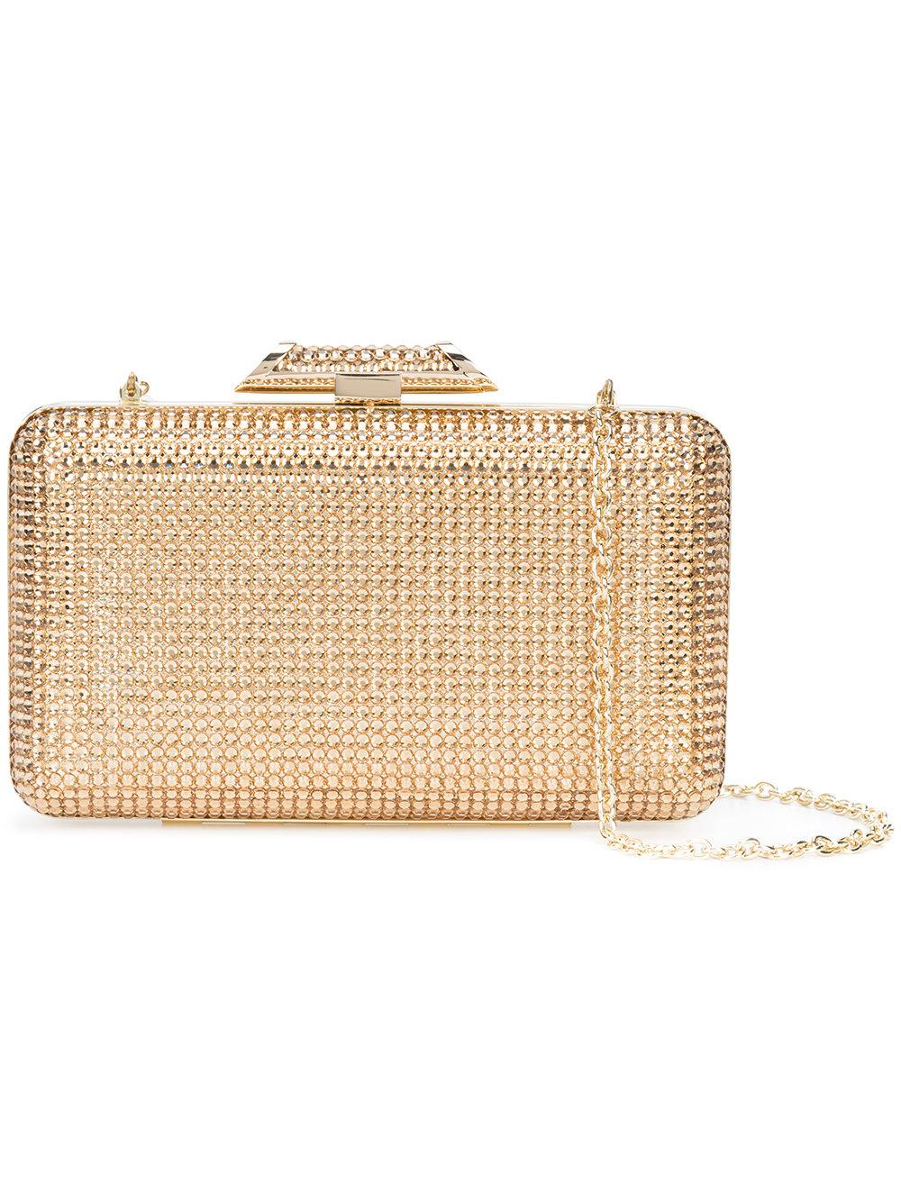 Jacqueline Metallic Box Clutch