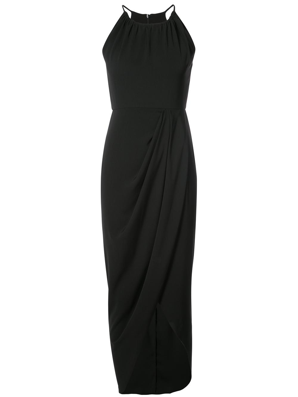 High Neck Ruched Maxi