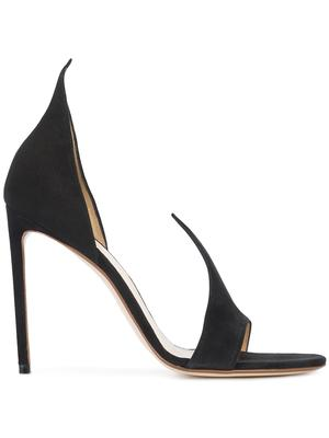 Suede Peak Toe High Heel Pump