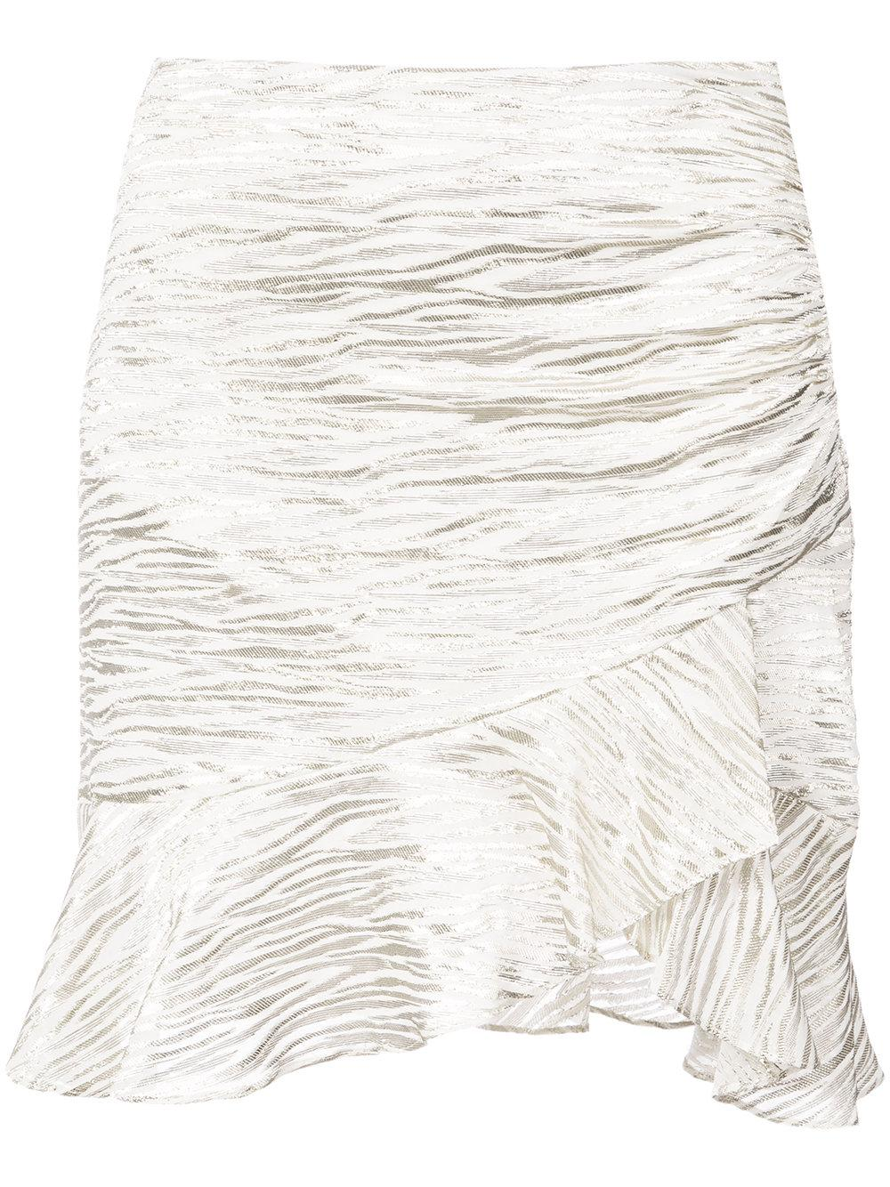 Yroni Ruffle Trim Wrap Skirt