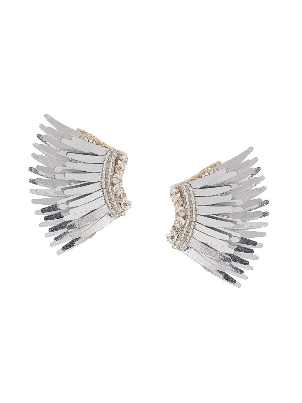 Mini Madeline Silver Beaded Earrings Item # E32-050