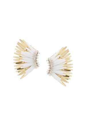 Mini Madeline White/Gold Earring