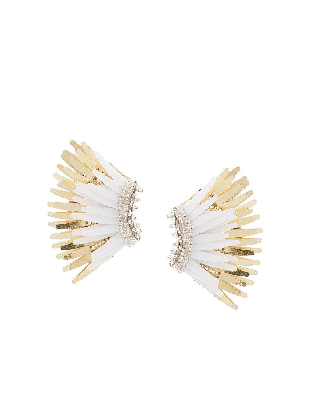 Mini Madeline White/Gold Earring