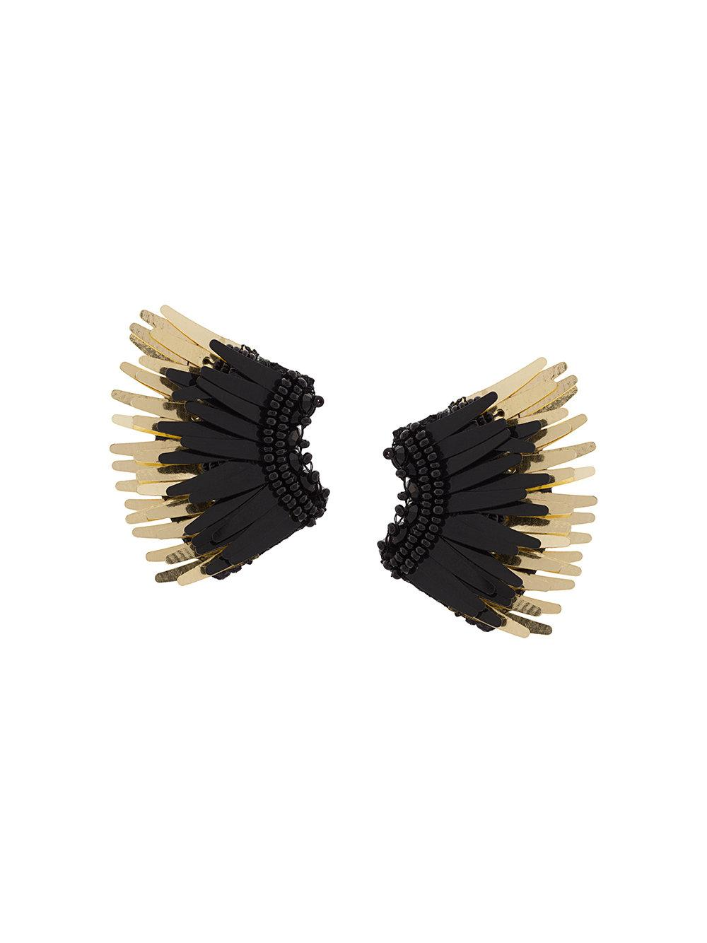 Mini Madeline Black/Gold Earring Item # E32-N33