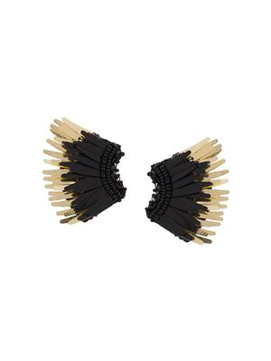 Mini Madeline Black/Gold Earring