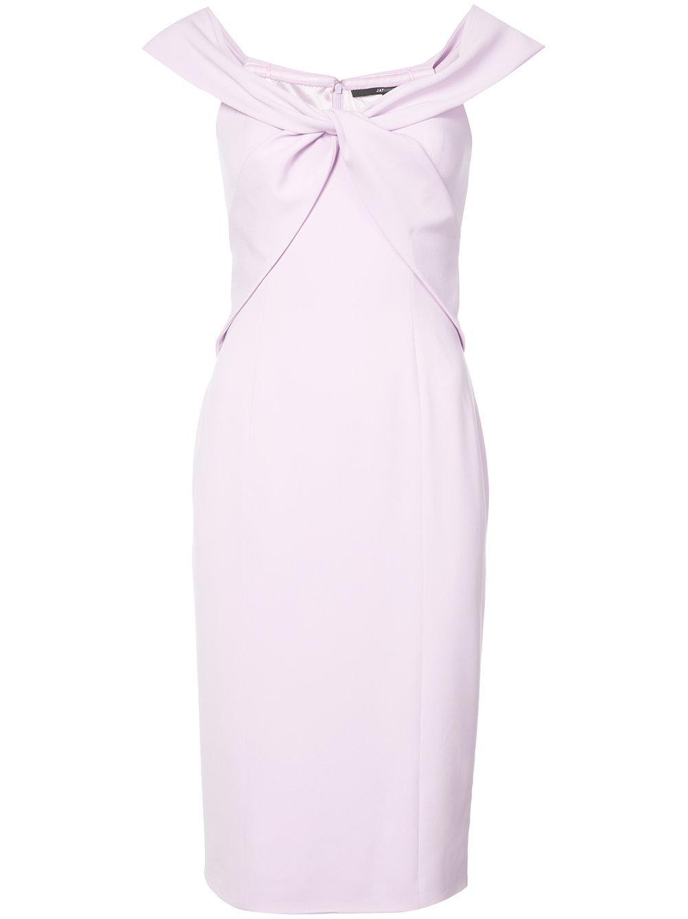Argon Twist Off Shoulder Sheath Dress Item # 103302