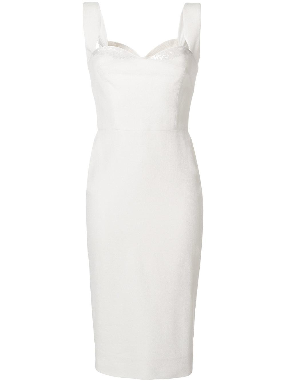 Sequin Strap Sweetheart Neck Fitted Dress Item # DRFIT6458B
