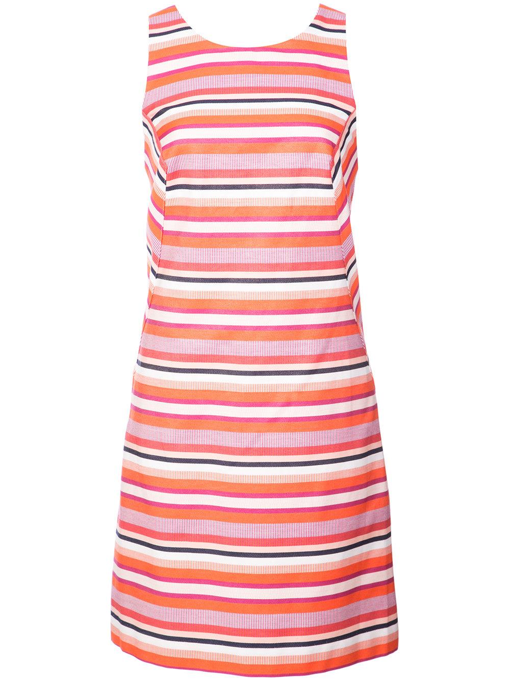 Visalia Stripe Sleeveless Mini Dress