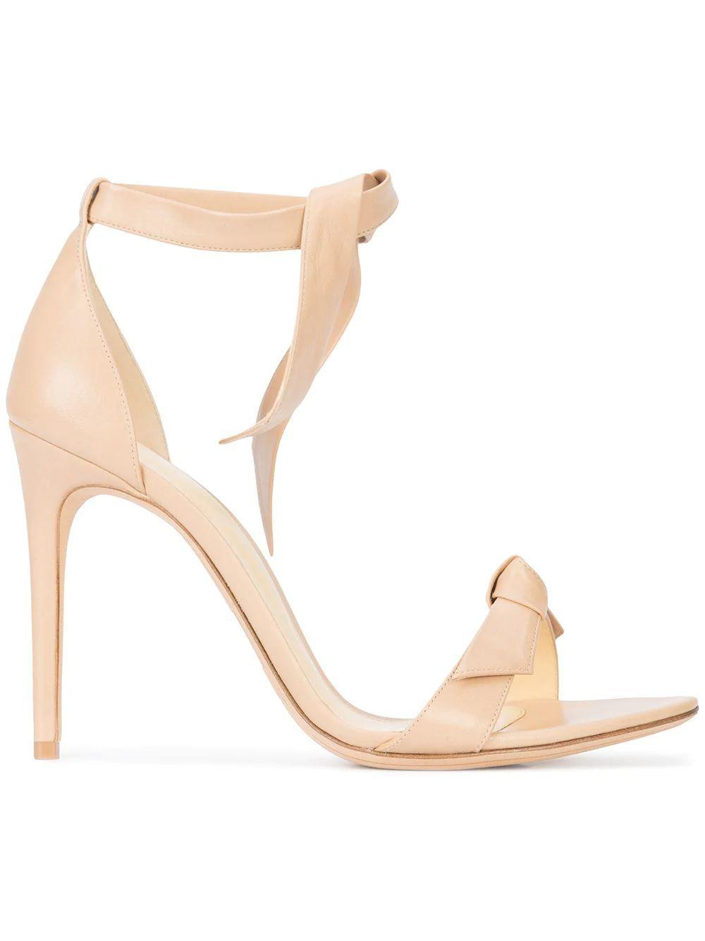 Clarita Nude Tie Ankle Sandals Item # CLARITA-100