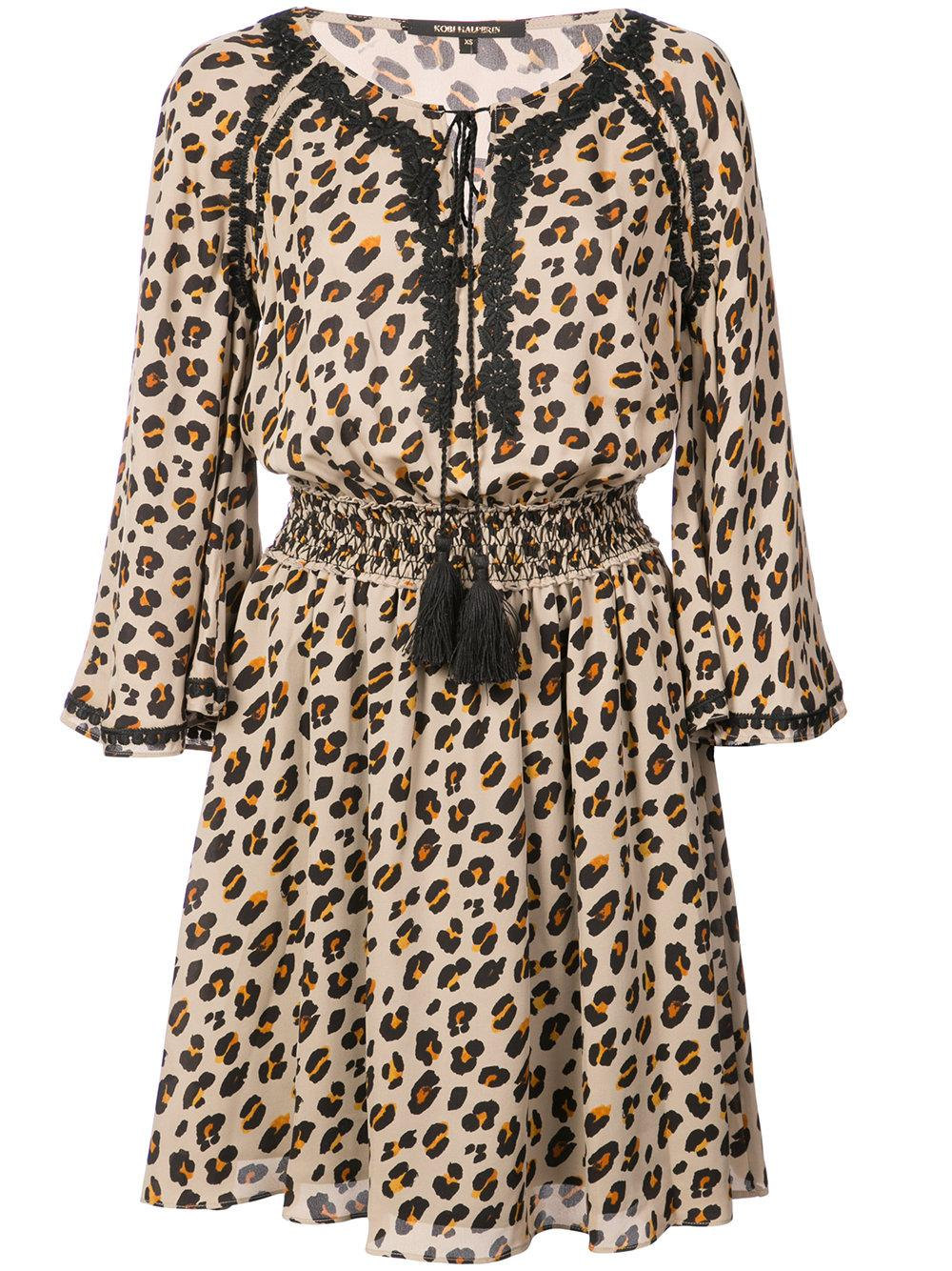 Mae Animal Print Silk Dress