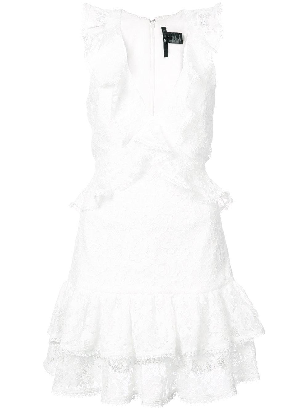 Carlton Lace Ruffle Mini Dress