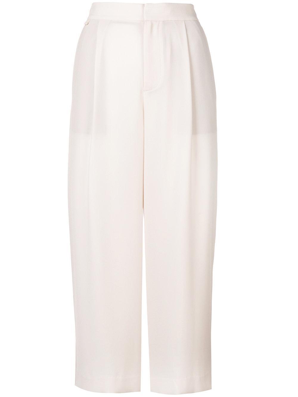 High Waist Cropped Trouser