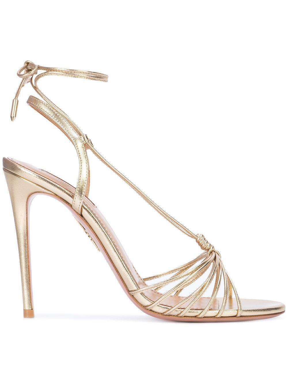 Nappa Metallic Strappy Sandal