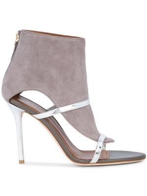 Nappa Suede High Heel Sandal Bootie