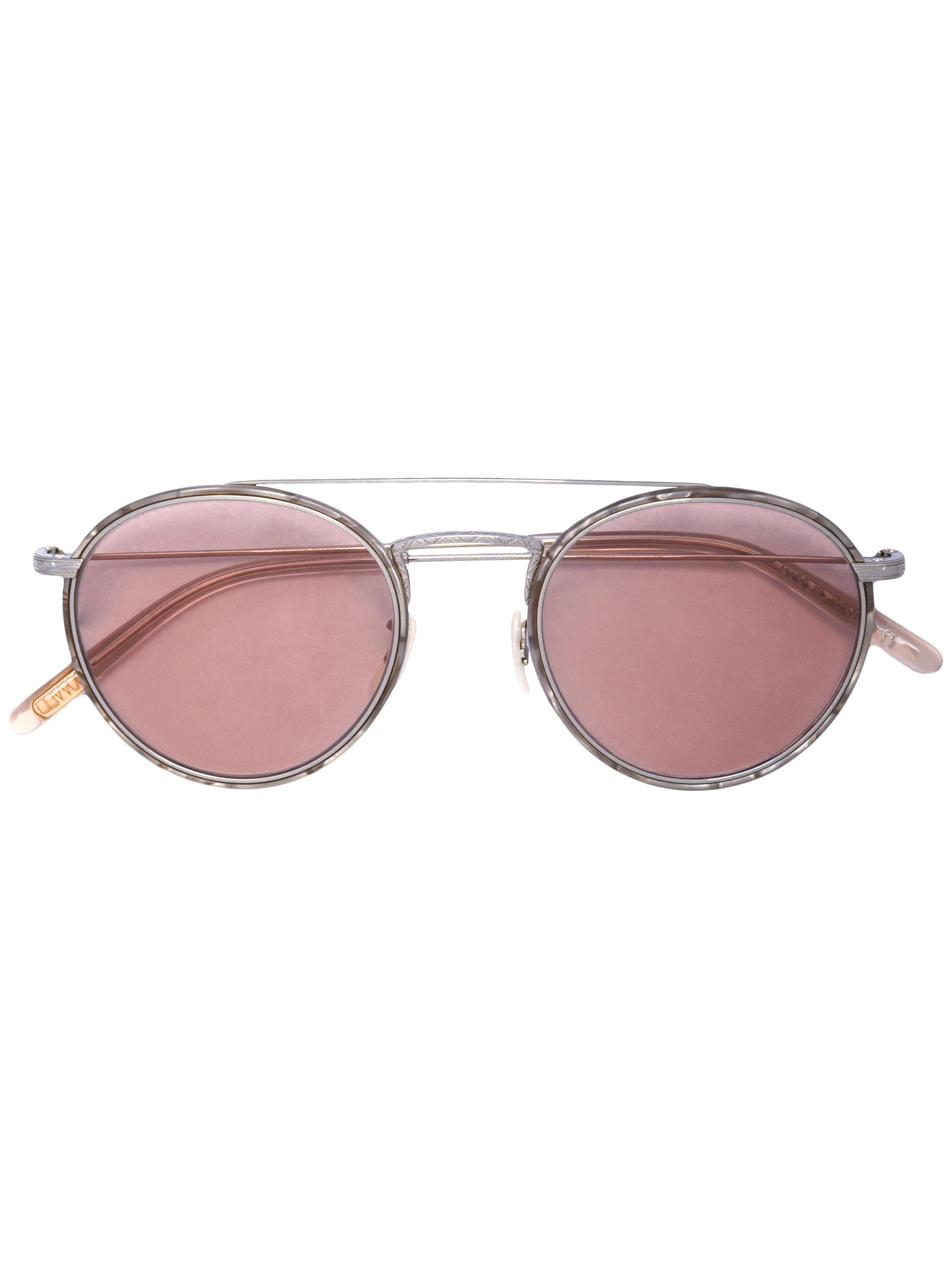 Ellice Rose Gold Tint Round Sunglasses Item # 0OV1235ST-ROSE
