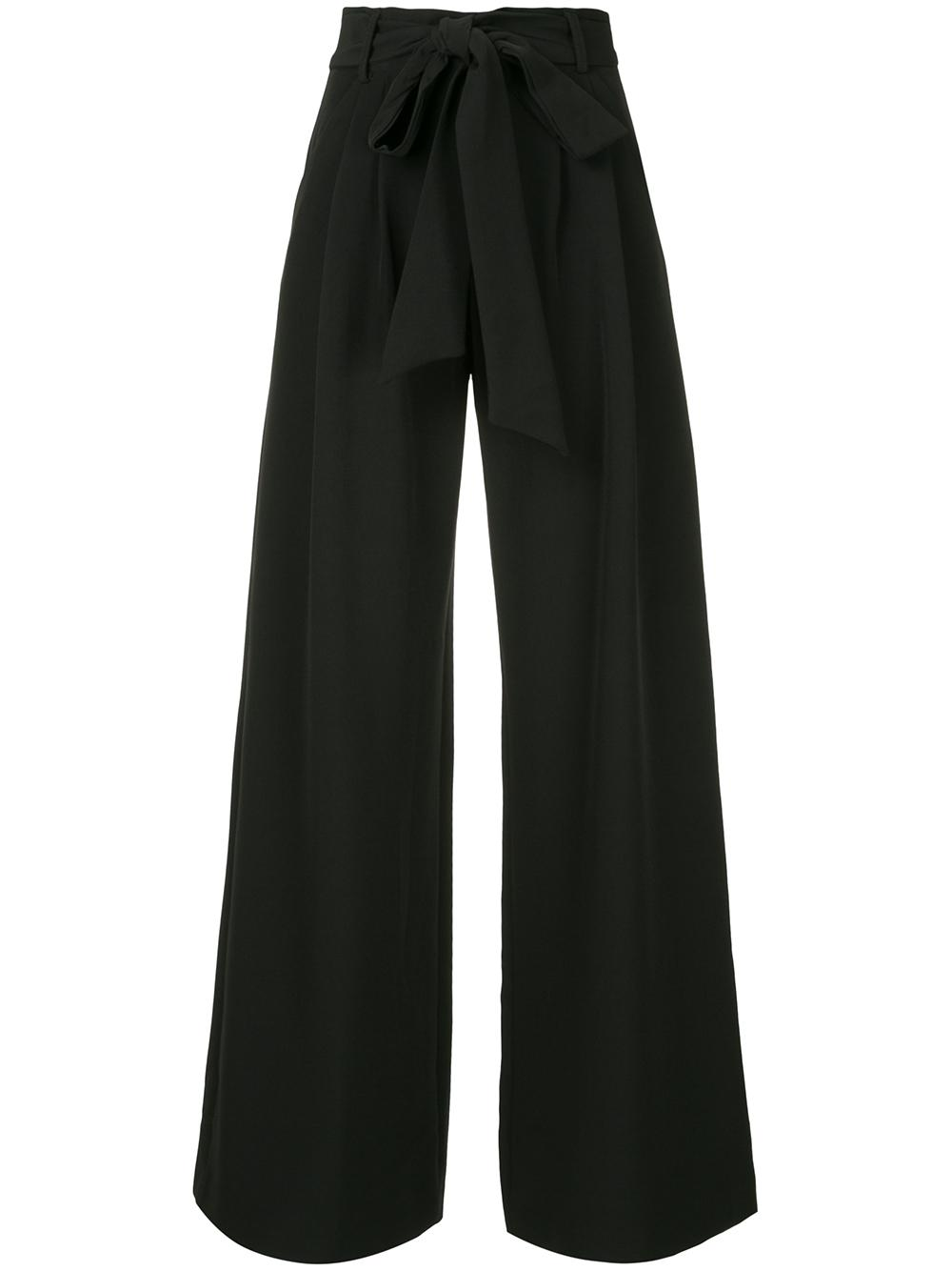 Natalie Tie Waist Wide Leg Trouser Item # 990IC03955