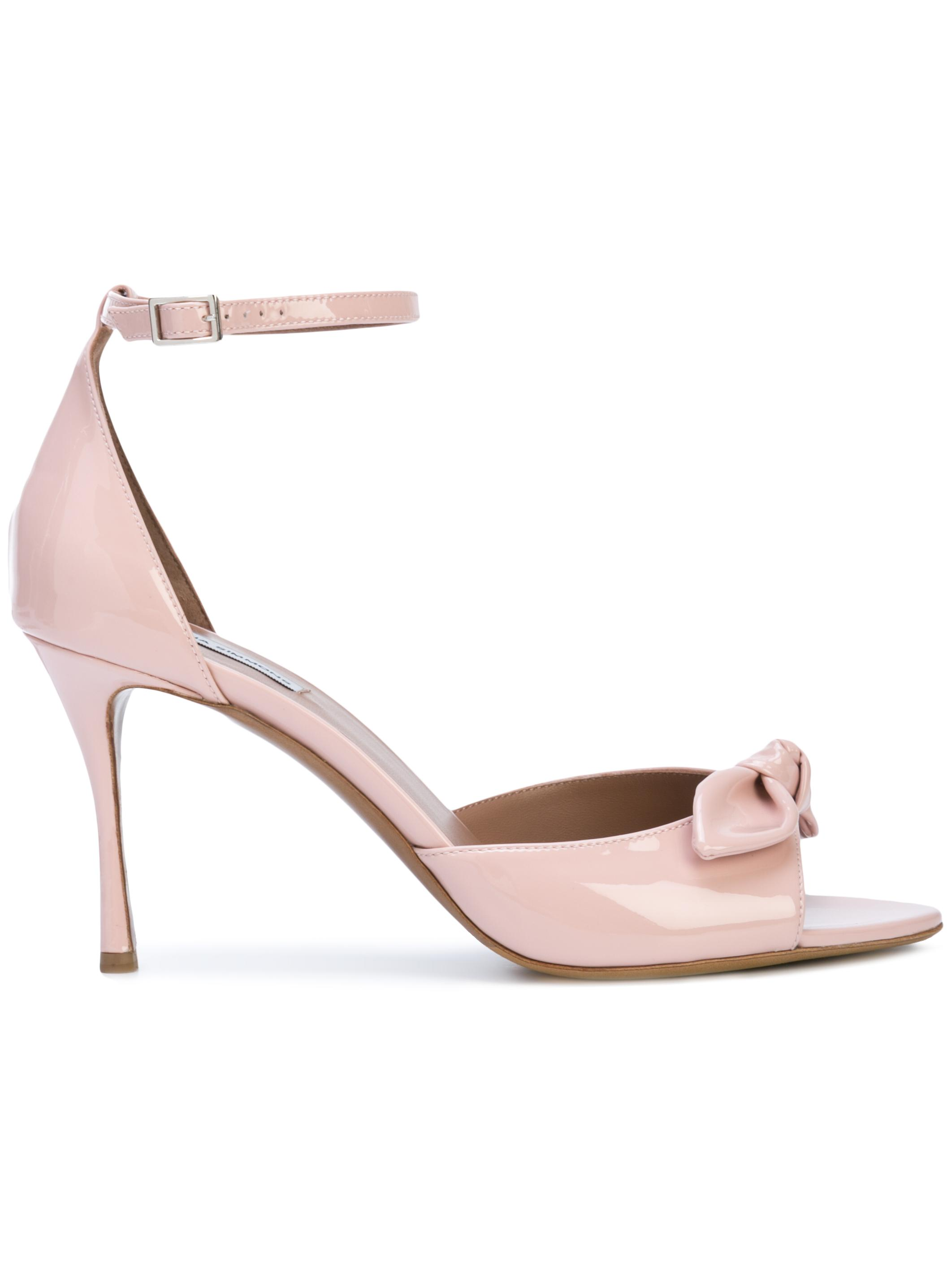 Patent Ankle Strap Side Knot Sandal