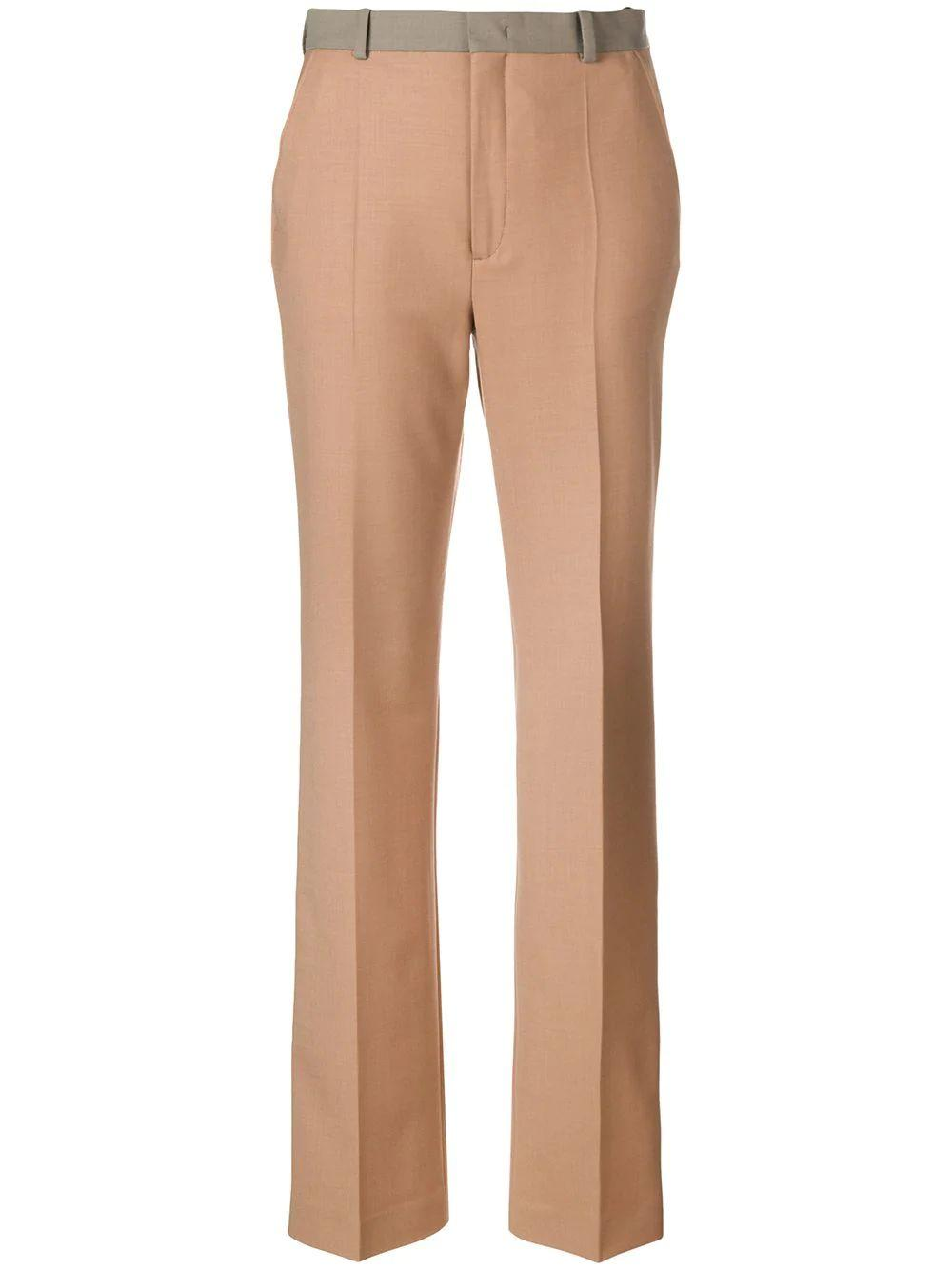 New Tropez Color Block Wool Trousers