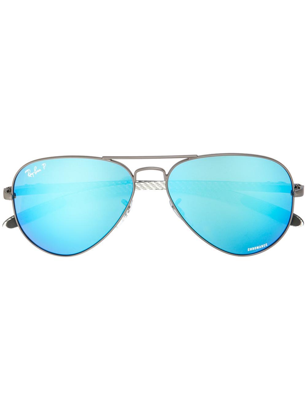 Chromance Mirrored Aviator Sunglasses