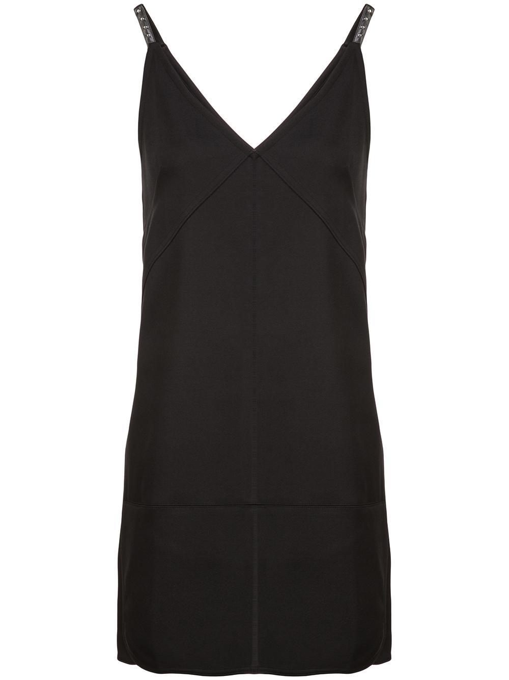 Padded Nylon Mini Tank Dress Item # I06HW601