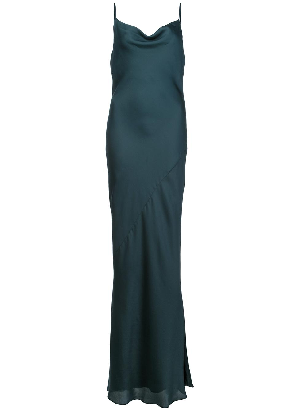 Luxe Bias Cowl Slip Dress Item # SJ3511