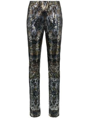 LUX Trouser With Printed Micro Sequins