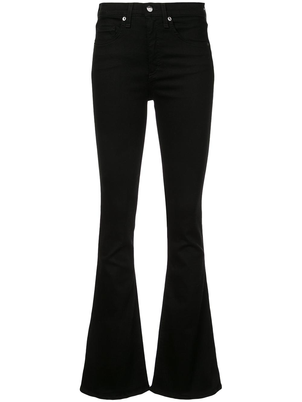 Beverly Zip Fly Skinny Flare