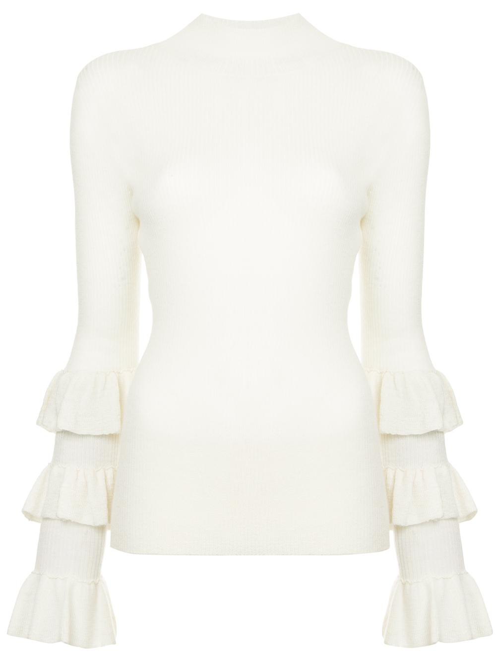 Naboo Multi Ruffle Sleeve Sweater Item # AW18 T45