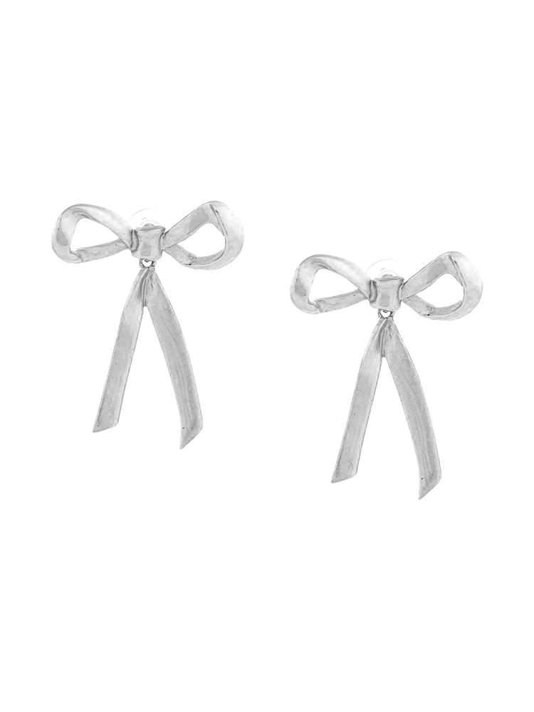 Runway Metal Bow P Earring