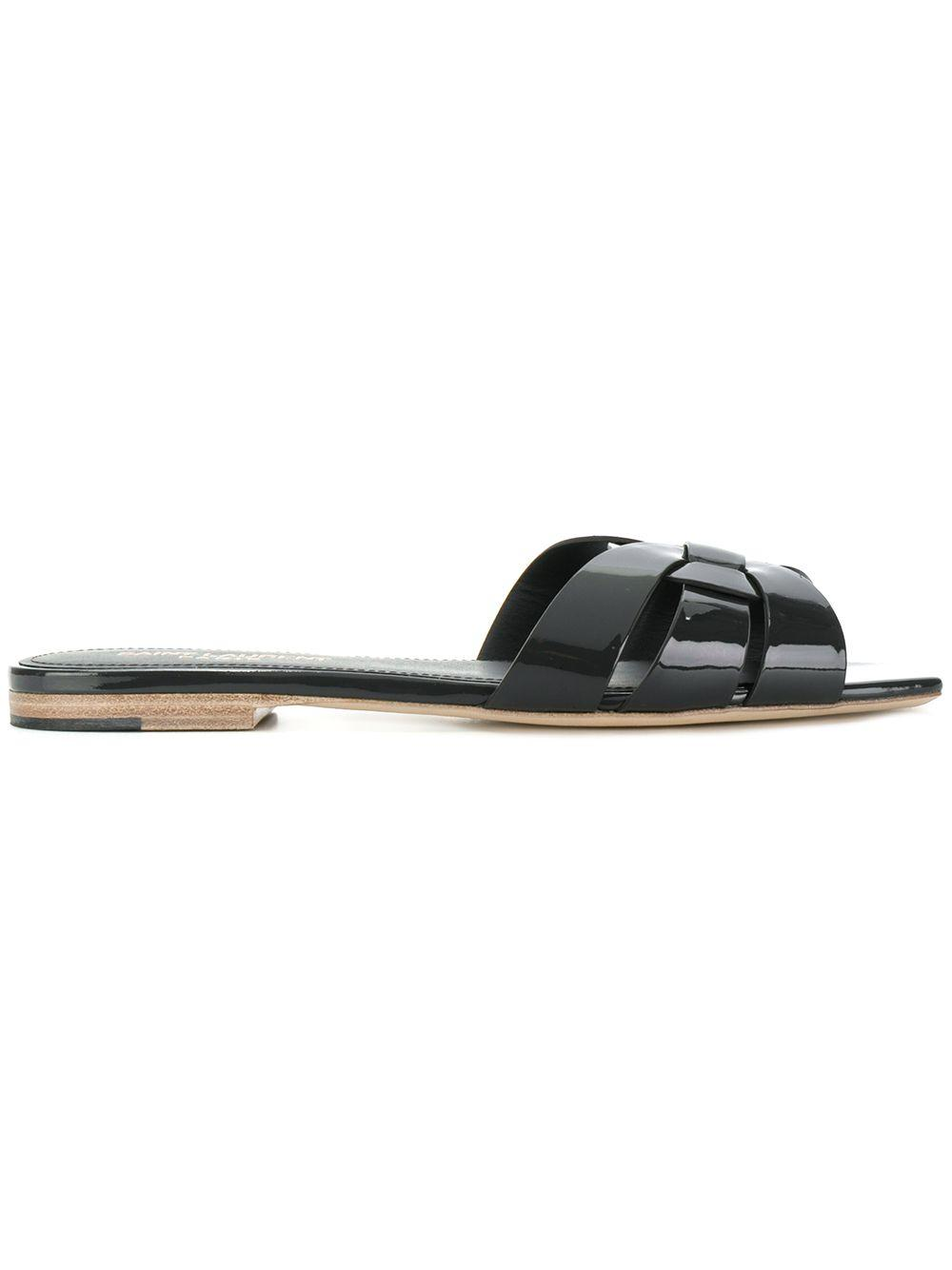 Nu Pieds 5mm Patent Slide Sandal