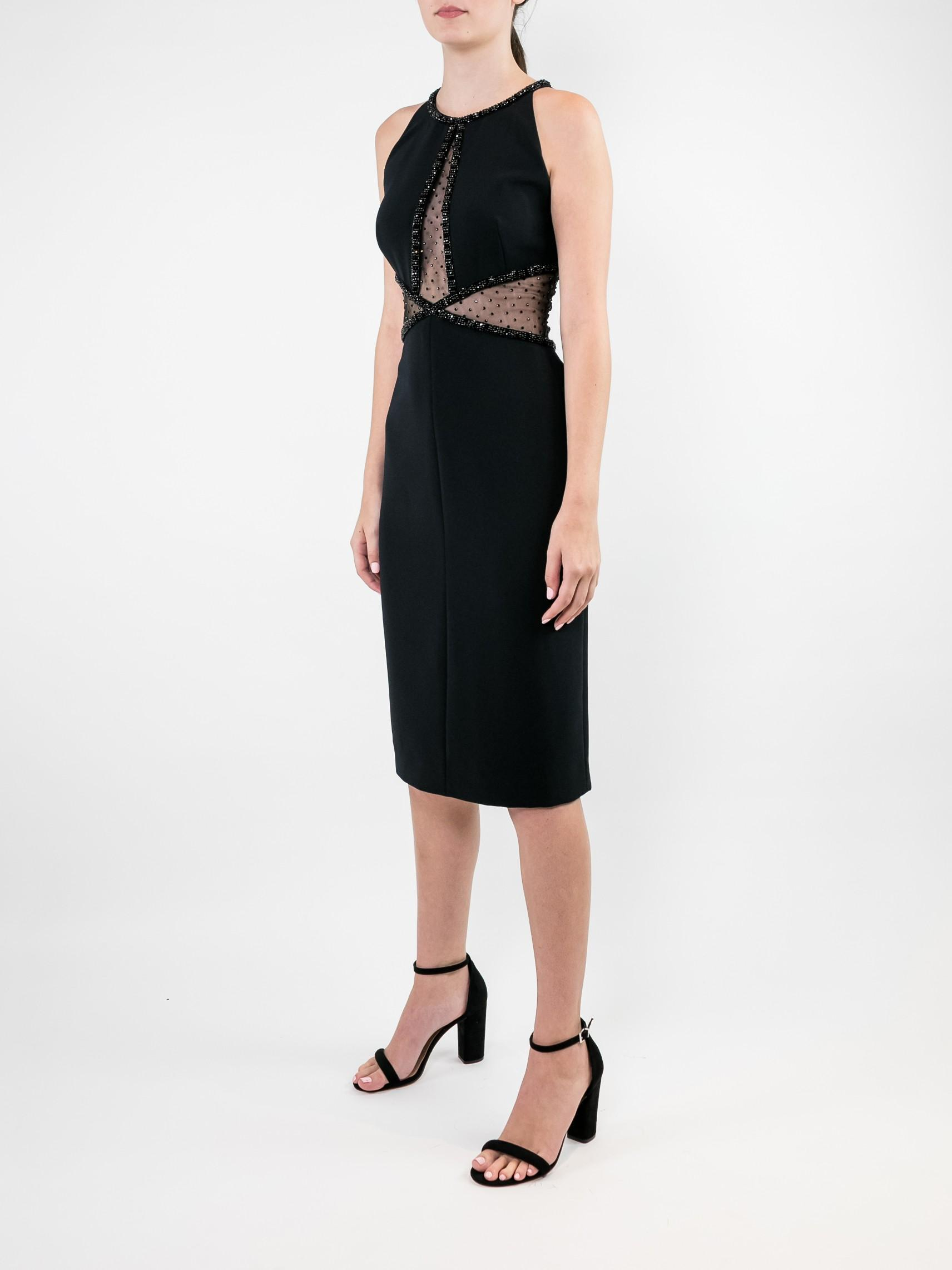 Sleeveless Cocktail Dress With Insets