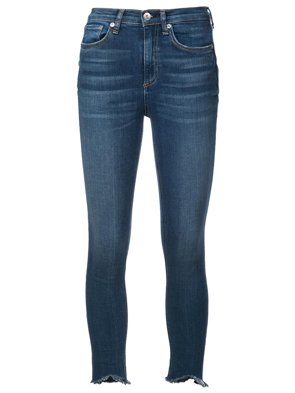 High Rise Skinny Ankle Distressed Jean