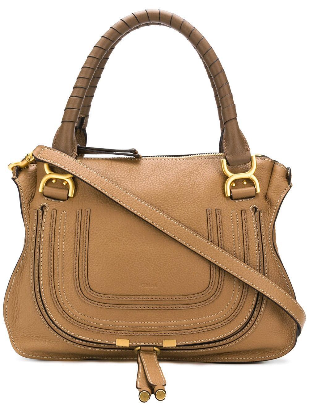 Marcie Med Double Carry Calfskin Bag