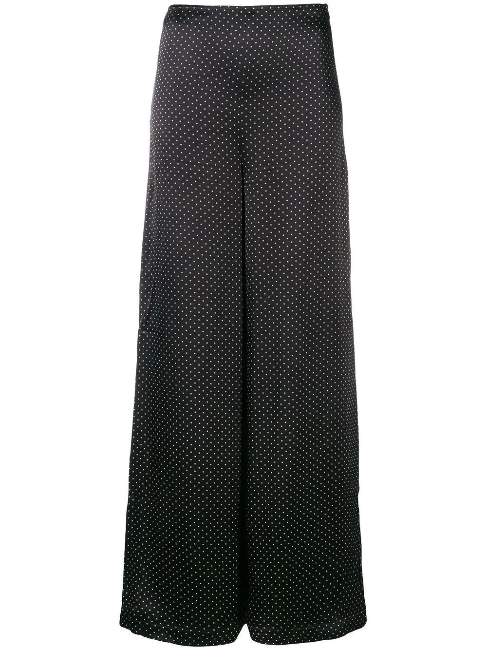 Cameron Dot Print Wide Leg Crop Pant Item # F2898
