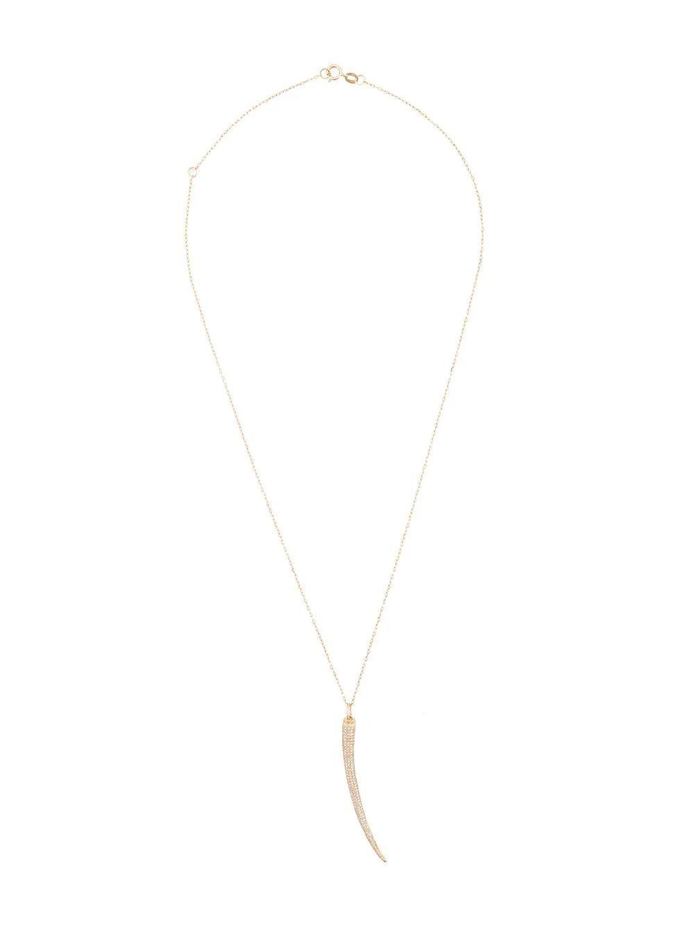 Pave Horn Necklace Item # N226