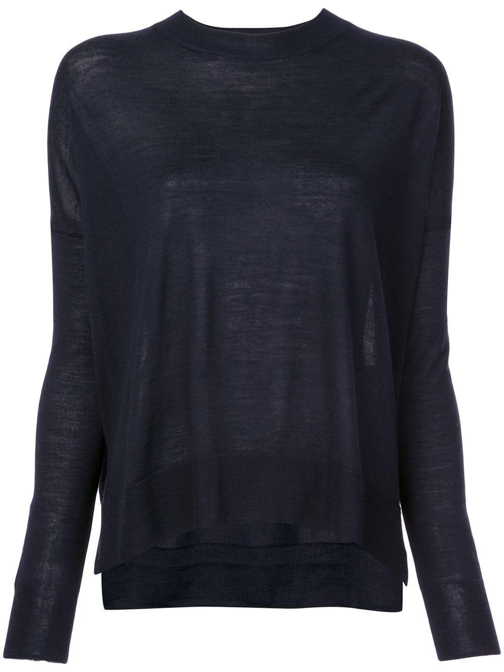 Boxy Crew Neck Sweater Item # TC00951SV-BASIC