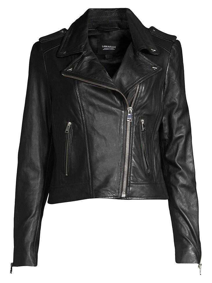 Lamb Leather Moto Jacket Item # DONNA-16