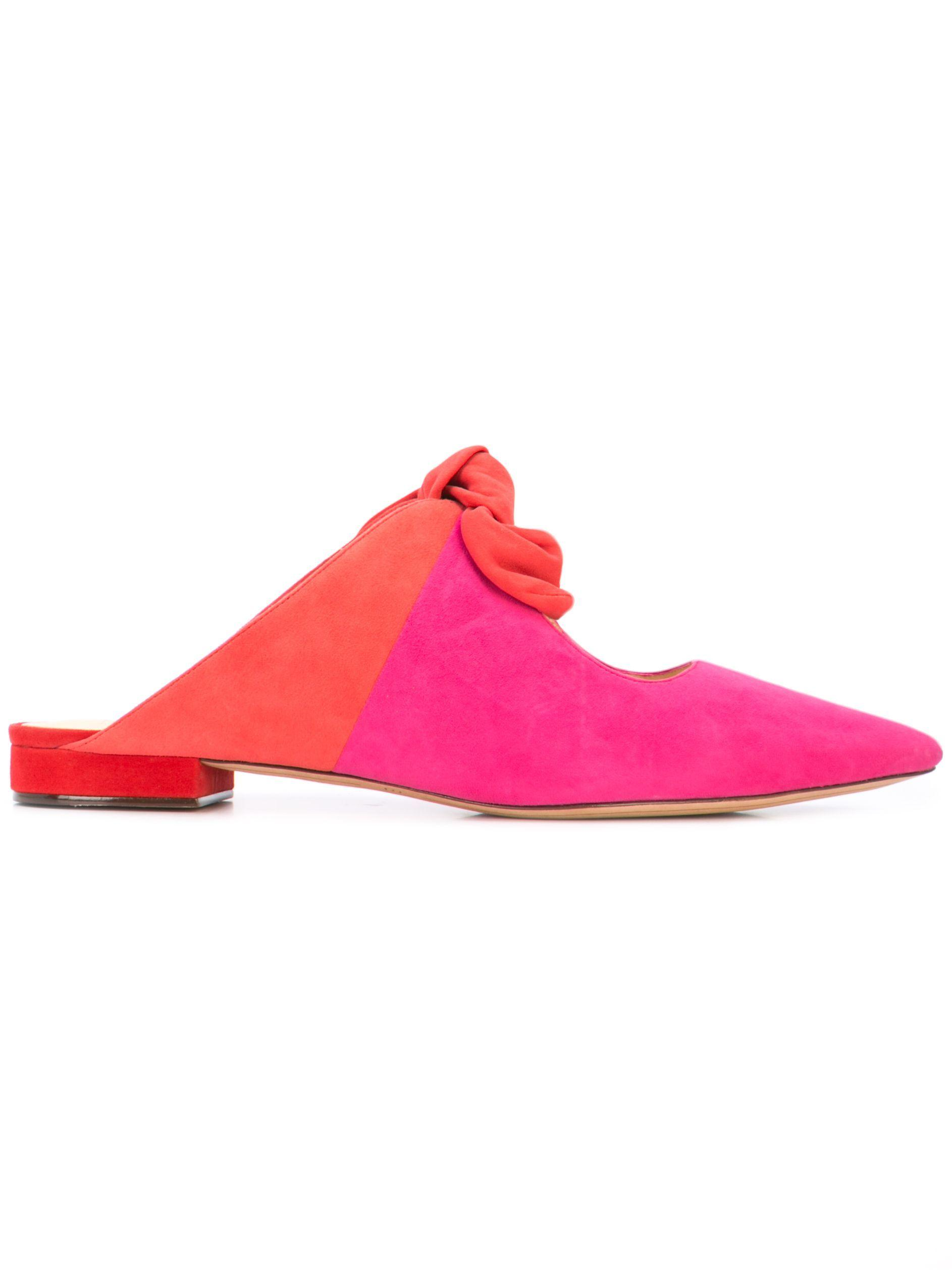 Evelyn Flat With Bow Suede