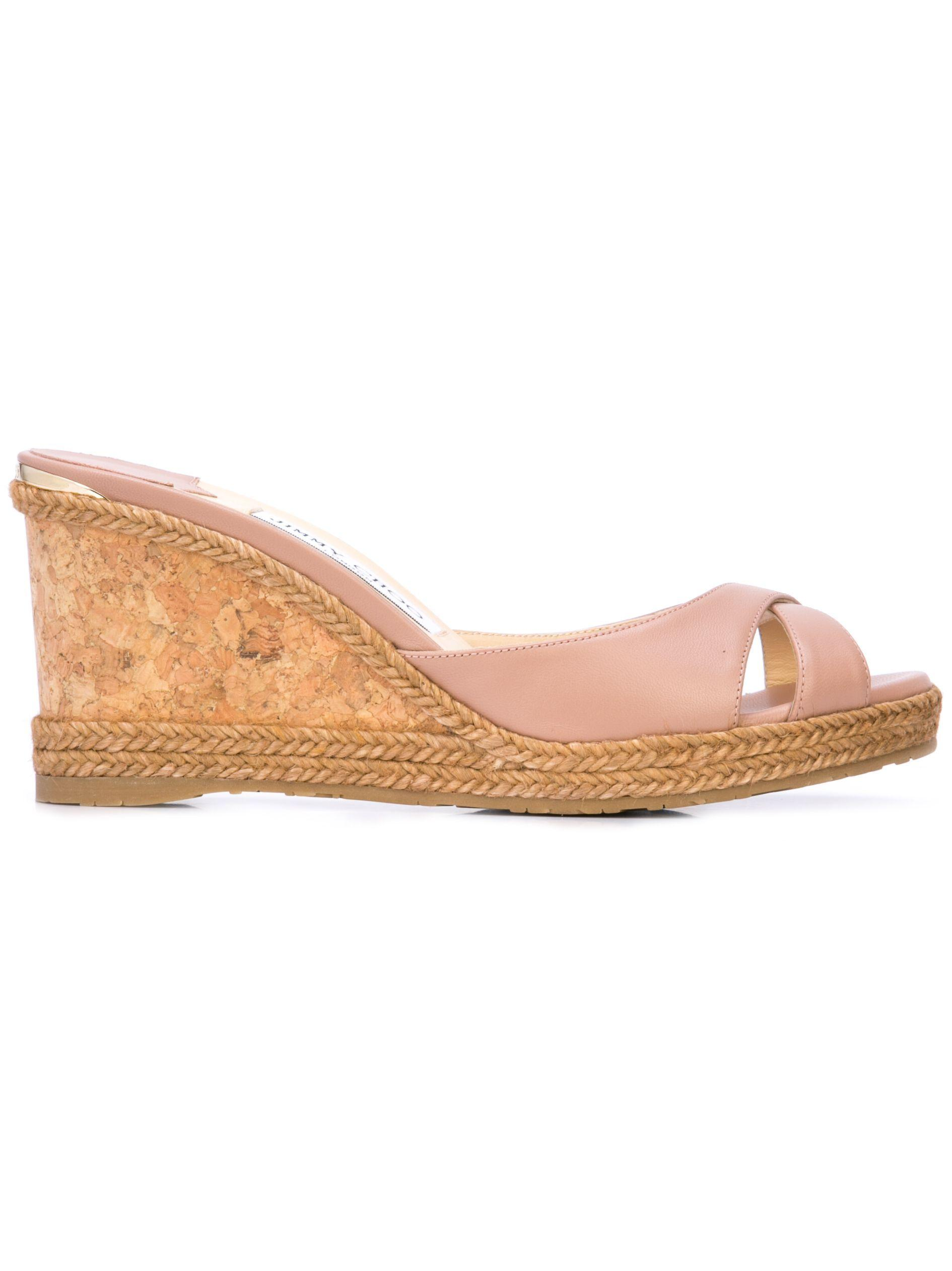 Nappa Wedge 80mm Sandal With Braid Trim