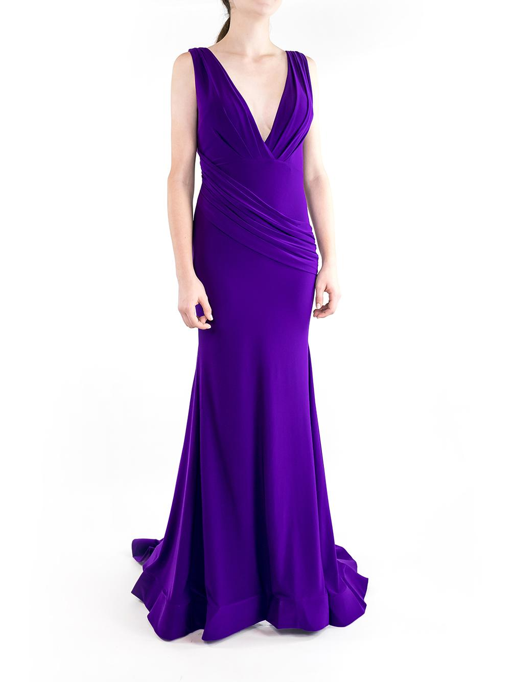 Sleeveless Front Rouched Gown Item # 67814